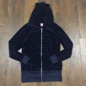Juicy Couture navy blue valor zip-up hoodie jacket
